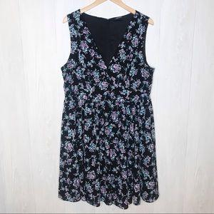 Torrid | Black Floral Dress Sz.18